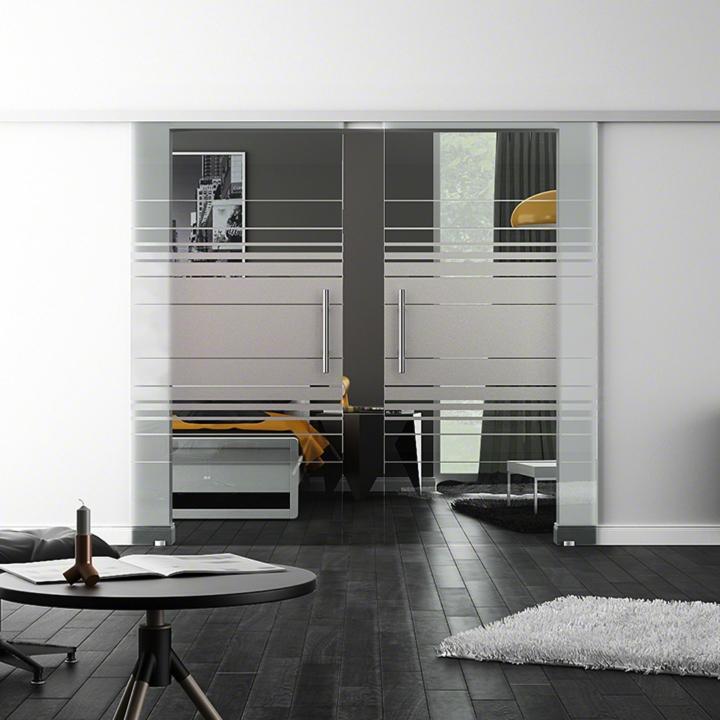 glasschiebet r m softclose softeinzug von levidor mit 2 scheiben fl geln ebay. Black Bedroom Furniture Sets. Home Design Ideas